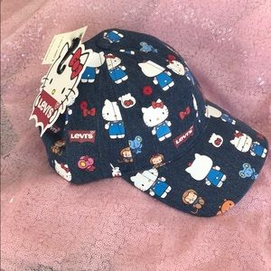 Hello Kitty Levi's Jean ball cap